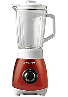 Brandt BLE250R Batidora de Vaso, 500 W, 0.8 Litros, Rojo