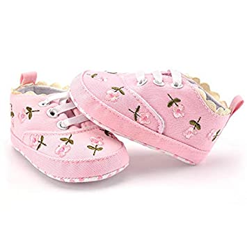 27ff78267d5f2 Amazon.com: Embiofuels - Baby Girl Shoes White Lace Floral ...