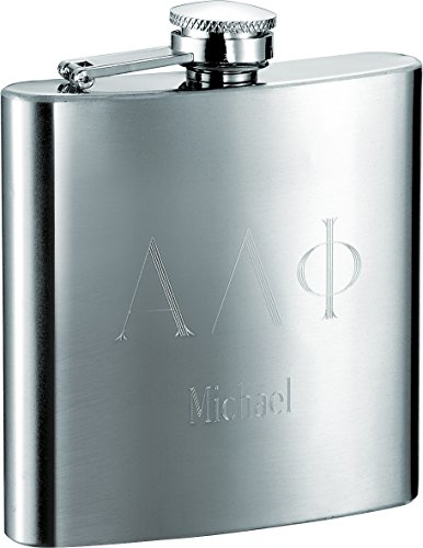 Personalized Visol Fraternity 6oz Flask with Greek Letters Engraving