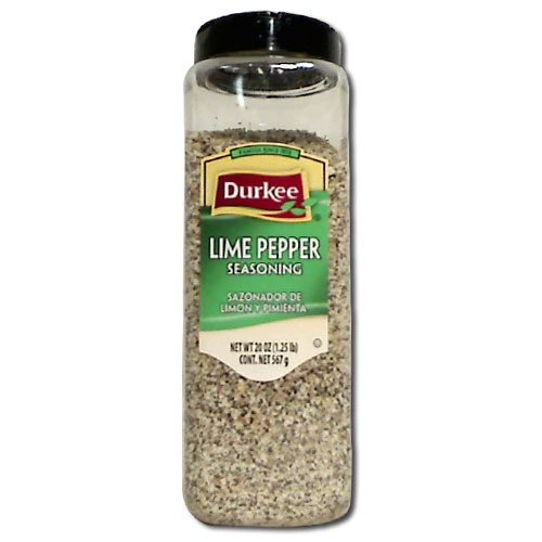Durkee Lime Pepper Seasoning - 20 oz. container, 6 per case