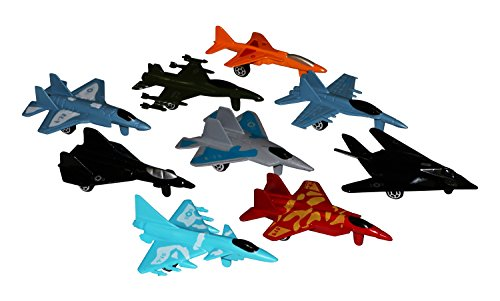 Metal die cast toy air plane set of military planes and jets
