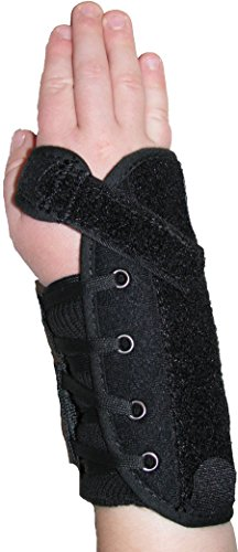 Wrist Brace Pediatric (Kids Universal Quick Lace Wrist Splint / Support Brace - Universal Size - Left)