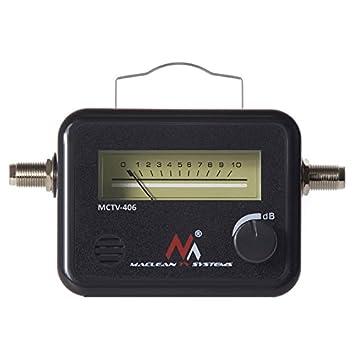 Medidor detector de señal satélite Maclean MCTV-406 para antena parabólica con señal acústica (zumbador): Amazon.es: Electrónica