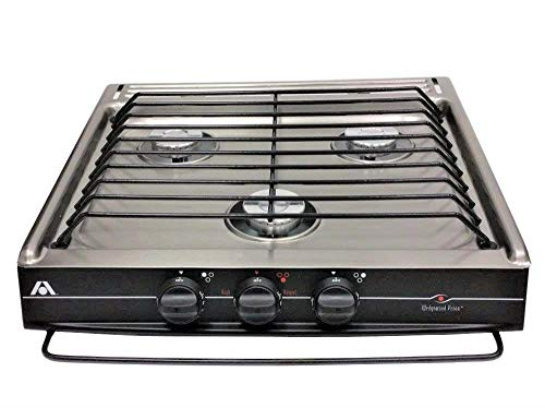 (Wedgewood Atwood 52182 CV-35S 3 Burner Stainless Steel Match Light Slide-in Cook TOP)