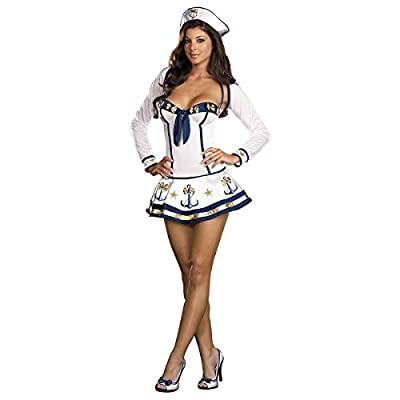 MutterMui Sailor Costume Adult Womens Sexy Navy Pin-up Girl Halloween Fancy Dress