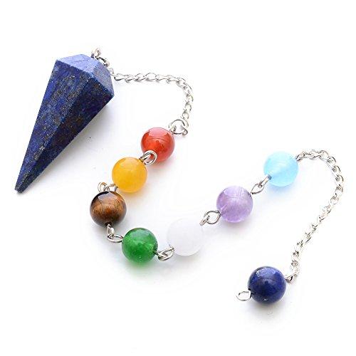 Lapis Lazuli Pendulum - Natural Lapiz lazuli Healing Crystal Stone Pendulum 12 Facet Reiki Charged