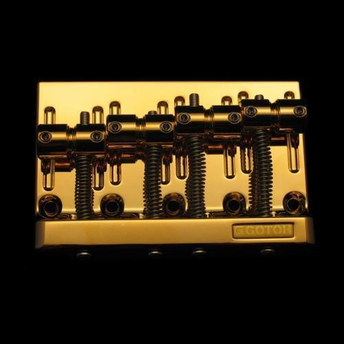 Gotoh Bass Bridge Gold w/Screws 2-1/4