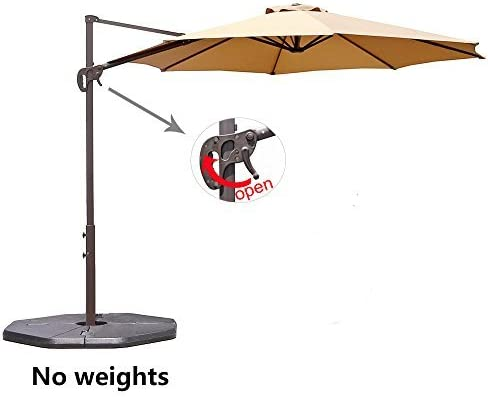 Le Papillon 10 ft Cantilever Umbrella Outdoor Offset Patio Umbrella Easy Open, Tilt 360 Swivel for Desired Shade All Day