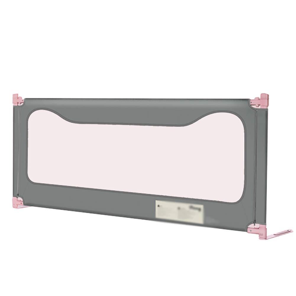ベッドフェンス- ポータブル180cmロング幼児安全ベッドレールガード、垂直昇降ベッドガードレール、3色オプション(1面) (色 : Gray)  Gray B07KSP6XLY