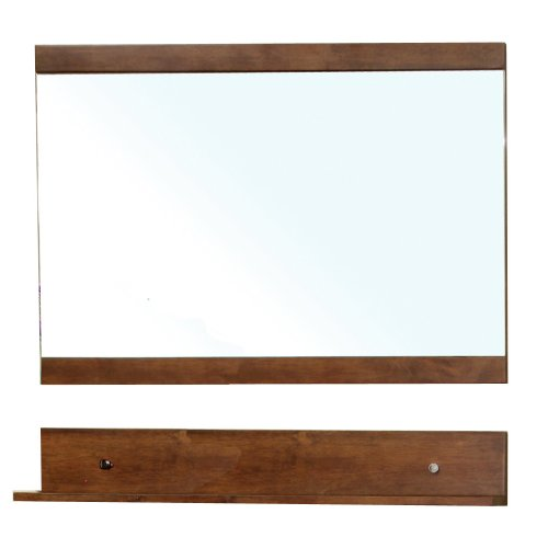 - Bellaterra Home 203138-MIRROR Solid Wood Frame Mirror, Walnut