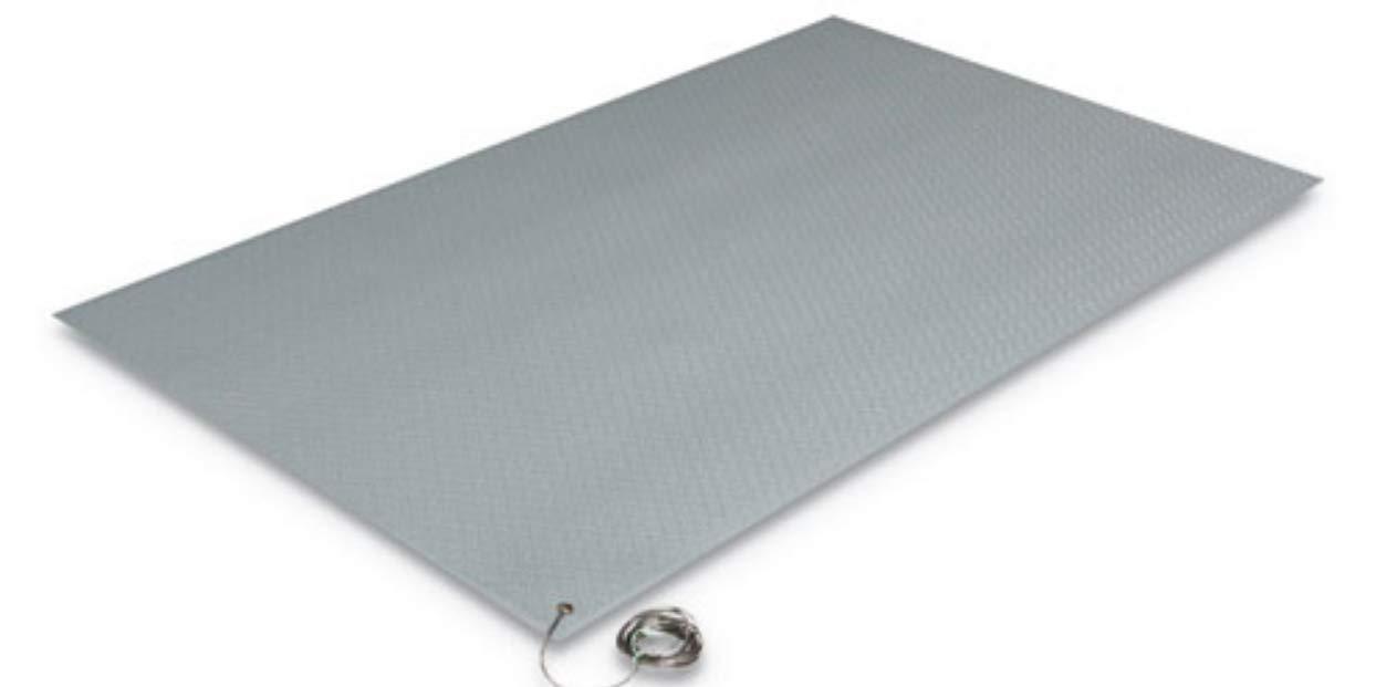 Antistatic Comfort King Mat Sponge 24 x 36, Steel Gray K&A Company