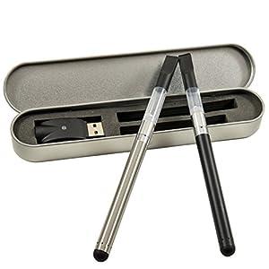 Starter Slimline Vape Pen Kit for CBD Oil (Silver,...