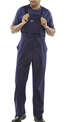 Rimi Hanger Mens Cotton Drill Bib and Brace Adult Painter Dungarees Work Trousers Overalls Navy Waist 34 (Drill Cotton Overalls)
