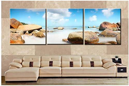 3パネルランドスケープキャンバスパンティングストーンクラウドシープリントキャンバスモダンアート壁の写真装飾用ソファCuadros