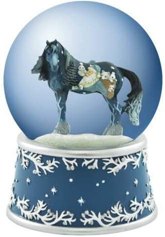 Westland Giftware Woodland Santa Clydesdale 100mm Resin Holiday Musical Water Globe Collectible