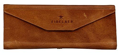 Finelaer Slim Lightweight Matt Leather Vintage Foldable Triangle Eyeglasses Sunglass Storage Case