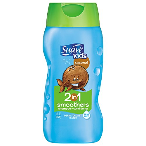 Suave Shampoo Kids Coconut Smoothers 2-in-1 Shampoo & Conditioner 12 Ounce Bottles (Value Pack of 6)