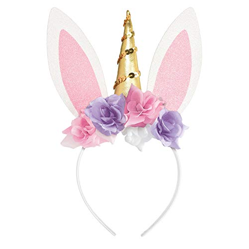 Amscan Unicorn Bunny Ear Headband for Teens and