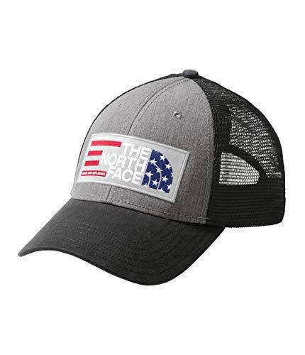 The North Face Americana Trucker, TNF Medium Grey Heather/TNF Black, Size OS (Adult North Face Jackets)