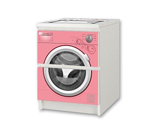 Lavadora Rosa pegatina de muebles | NSD56 | Pegatinas adecuadas ...