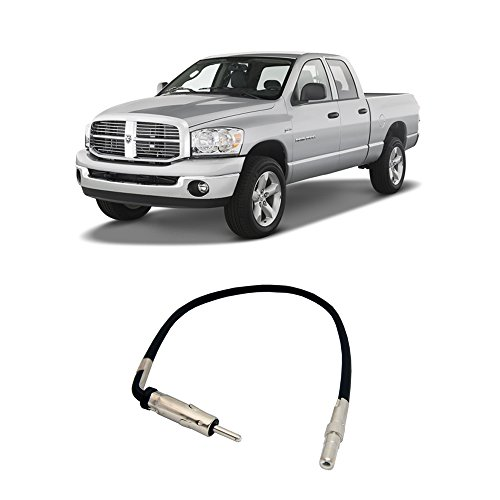 Dodge Antenna Adapter - Fits Dodge Ram Pickup 1500 2002-2008 Factory to Aftermarket Radio Antenna Adapter