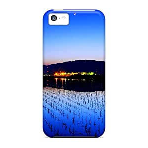 Rugged Skin Case Cover For Iphone 5c- Eco-friendly Packaging(lighted Night)