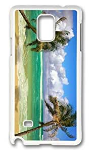 MOKSHOP Adorable Beach Palms Ocean Hard Case Protective Shell Cell Phone Cover For Samsung Galaxy Note 4 - PC White