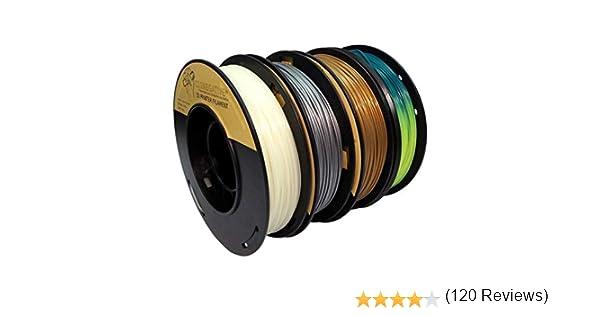 PLA 1.75mm 4x250g oro/plata/fosforescente/termocrómico - Filamento ...