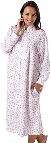 Señoras Marlon Ligera floral acolchado Botón Vestido Frente HC1800