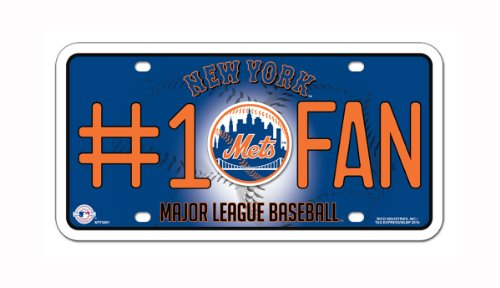 New York Mets License Plate - MLB New York Mets #1 Fan Metal Tag
