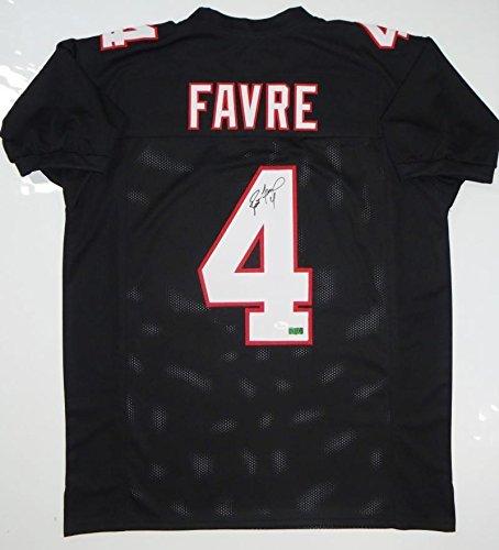Brett Favre Signed Jersey - Black Pro Style W Auth *4 - JSA Certified - Autographed NFL Jerseys
