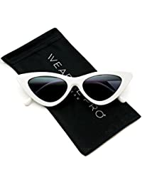 Retro Vintage Tinted Lens Cat Eye Sunglasses