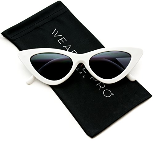 WearMe Pro - Retro Vintage Tinted Lens Cat Eye - Cateye Sunglasses Black
