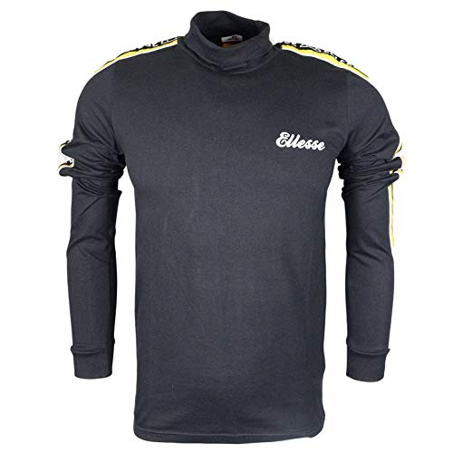 ellesse Adovardo High Neck Black Cotton Long Sleeve T-Shirt XXL Black