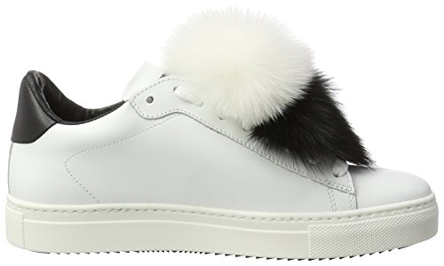 Scarpe Bianco Basse da Stokton Ginnastica Sneaker Donna 6xnZH5