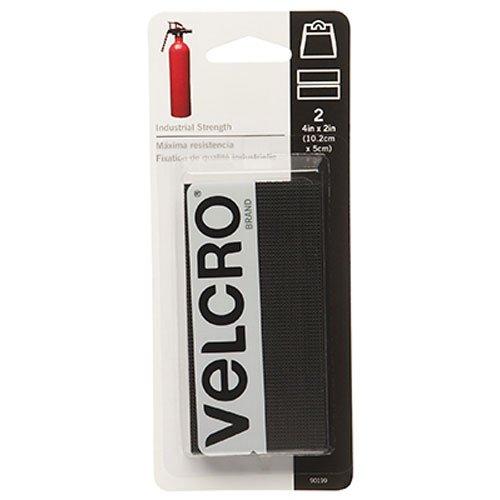 075967901998 - Velcro Industrial Strength Sticky-Back Hook & Loop Fastener 2 PACK TOTAL OF 4 Strips, 4 x 2, Black carousel main 0