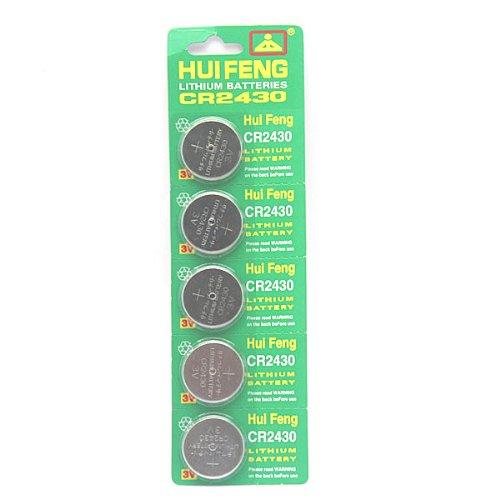 5 pcs CR2430 Lithium Button Coin Batteries 3V ()