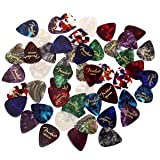 Fender Premium Picks Sampler - 48 Pack Includes Thin, Medium and Heavy Gauges, Assorted Colors