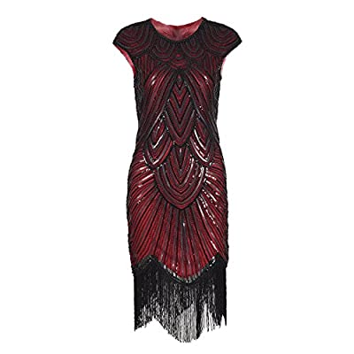 Sequin Dress Beaded Dresses - Flapper Dress Gatsby Dresses for Women Lady