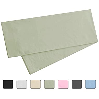 Body Pillowcase, 100% Cotton, 300 Thread Count, 21x60 Pillow Cover by American Pillowcase, Fits 20 x 54, Sage Green