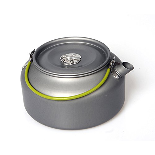 Price comparison product image Chartsea Outdoor Coffee Teapot Camping Hiking Picnic BBQ Kettle Water Pot Aluminum (A)