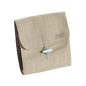 Lewis N Clark Jewelry Roll, Beige/Mint