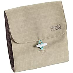 Lewis N Clark Jewelry Roll, Beige/Mint