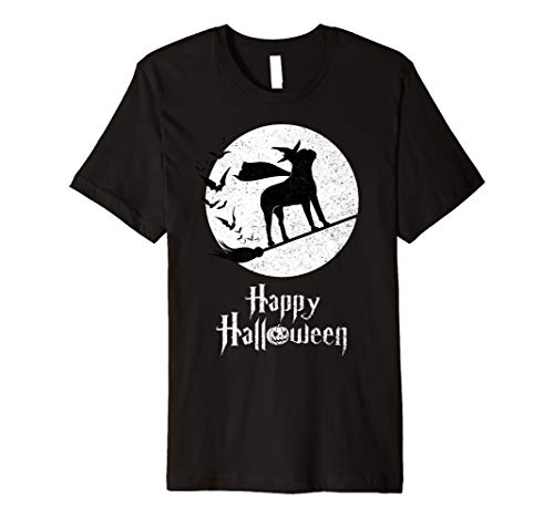 (Witch Funny Halloween Costume T-Shirt BOSTON TERRIER)