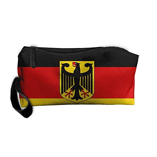 King Fong Germany Flag Makeup Bags for Men/Women, Travel Toiletry Bag, Oxford Pencil Case