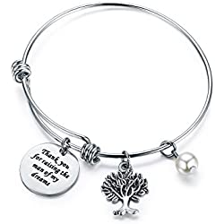 CJ&M Mother In Law Gift Family Tree Bracelet - Thank You For Raising The Man / I Will Take Care Of Her Always Bracelet Christmas Gifts,Mother's Day Gifts (Thank-Raising-Bracelet)
