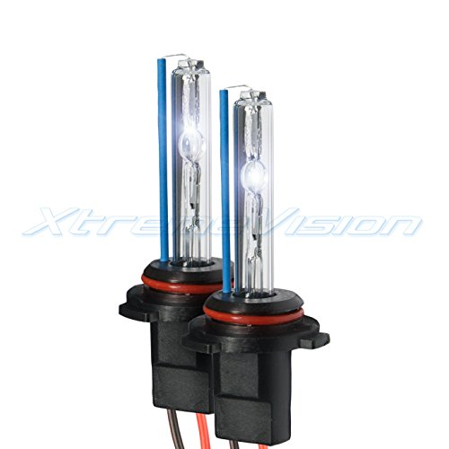 XtremeVision HID Xenon Replacement Bulbs - 9006 6000K - Light Blue (1 Pair) - 2 Year Warranty