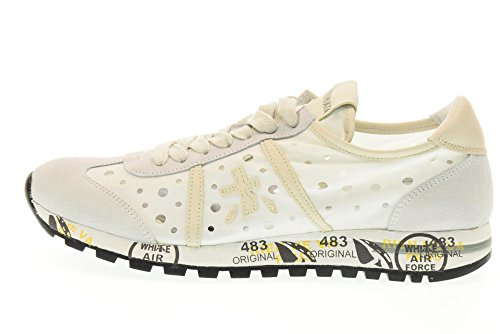 PREMIATA zapatos bajos de las zapatillas de deporte de las mujeres LUCY D-460E Color blanco