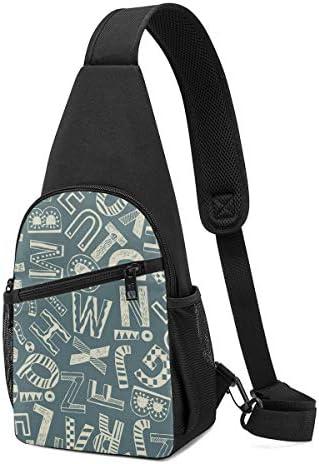 アルファベット 斜め掛け ボディ肩掛け ショルダーバッグ ワンショルダーバッグ メンズ 多機能レジャーバックパック 軽量 大容量