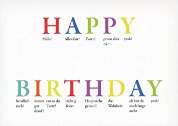 Happy birthday englisch spr che directdrukken - Lustig auf englisch ...